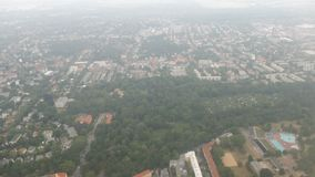 Flying over Berlin district pankow and tegel Germany. Aerial view.  stock video footage