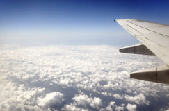 Flying over the clouds Stock Photography