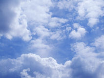Flying over the clouds Royalty Free Stock Image