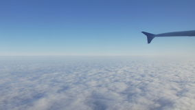 Flying over clouds aerial stock video footage