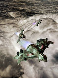 Flying over clouds royalty free illustration