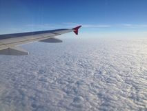 Flying over clouds Stock Photo