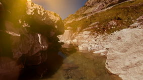 Flying over colorful canyon mountain landscape background stock video footage