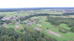 Flying over countryside. Video of flying over countryside stock video