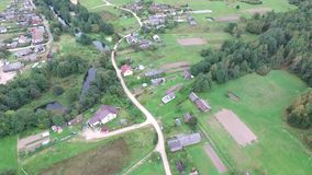 Flying over countryside. Video of flying over countryside stock video footage