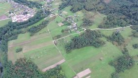 Flying over countryside. Video of flying over countryside stock footage