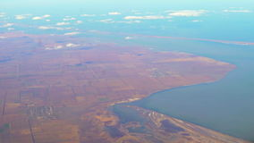 Flying over the Crimea stock footage