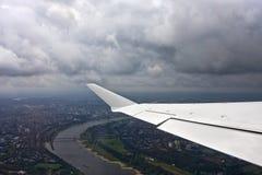 Flying over D�sseldorf Stock Photos