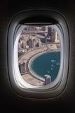Flying over dubai marina Royalty Free Stock Image