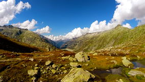 Flying over epic mountain landscape scenery peaceful nature background. Video of flying over epic mountain landscape scenery peaceful nature background stock video footage