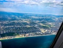 flying over Florida beaches Stock Images