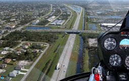 Flying Over The Florida Turnpike. Photographed from a helicopter the Florida Turnpike Royalty Free Stock Images