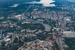 Flying over Germany - Aerial view of Berlin-Spandau Stock Images
