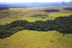 Flying over Gran Sabana, Venezuela Royalty Free Stock Images