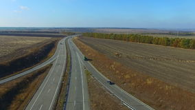 Flying Over The Highway stock footage