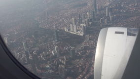 Flying over Istanbul city in Turkey stock video footage