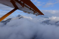 Flying Over Kodiak Island, Alaska Royalty Free Stock Photos