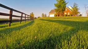 Flying over lawn. Flying over grass on a horse farm in Central Kentucky near Georgetown stock video