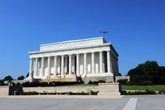 Flying Over Lincoln's Memorial Stock Photography