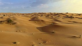 Flying over Middle Eastern desert stock video footage