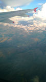 Flying. Over the mountain range Stock Photo