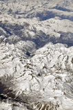 Flying over the mountains Royalty Free Stock Photography