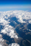 Flying over the mountains Royalty Free Stock Images