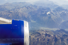Flying over Mountains Royalty Free Stock Image