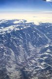 Flying over the mountains of the Western USA stock photography