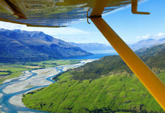 Flying over New Zealand Stock Photography