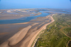 Flying Over North Norfolk Stock Photography