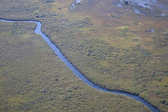 Flying over the Okavango Delta with Air Moremi Stock Photos