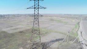 Flying over power line