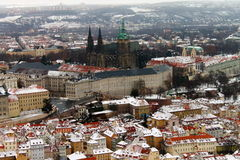 Flying over Prague Royalty Free Stock Photo
