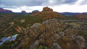 Flying over Red Rocks stock video footage