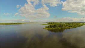 flying over the river. view to the east stock footage