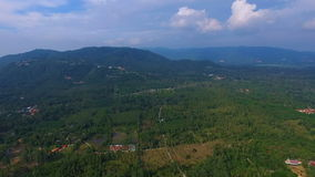 Flying over Samui Tropical Island, Thailand. Aerial View stock footage