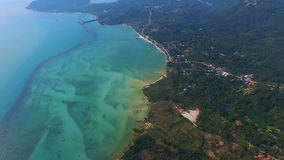 Flying over Samui Tropical Island, Thailand. Aerial View stock video
