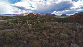 Flying over Sedona Red Rocks stock footage