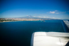 Flying over Sicily Royalty Free Stock Image