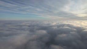 Flying over sky stock video