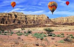 Flying over the stony desert stock photo