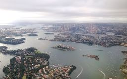Flying Over Sydney Royalty Free Stock Image