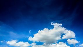 Clouds with blue sky. Flying over the time lapse clouds stock video