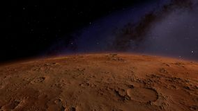 Flying over an unknown planet. Flights to outer space, space flights stock video