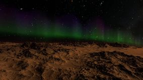 Flying over an unknown planet. Flights to outer space, space flights stock footage