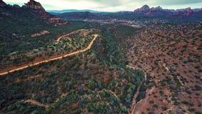 Flying over Verde Valley stock video