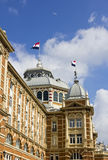 Flying over the Victorian Luxurious Kurhaus Hotel Royalty Free Stock Photo