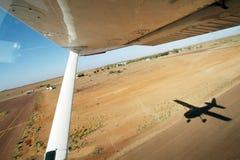 Flying over William Creek, Oodnadatta Track, South Australia Royalty Free Stock Photo