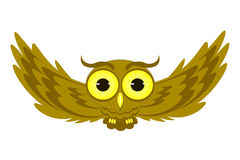 Flying owl illustration. Owl isolated on white background vector illustration Royalty Free Stock Image